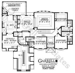 Lexington House Plan # 06001, 2nd Floor Plan, Traditional Style House Plans,Two Story House Plans