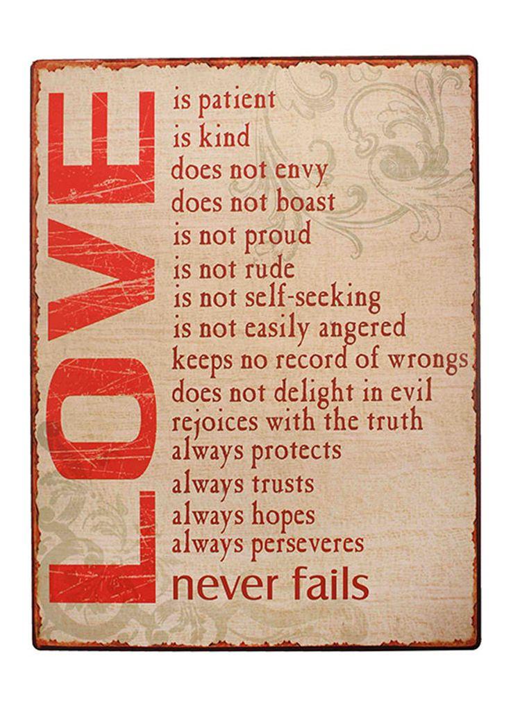 Le Femme - Love Is Rectangular Iron Plaque