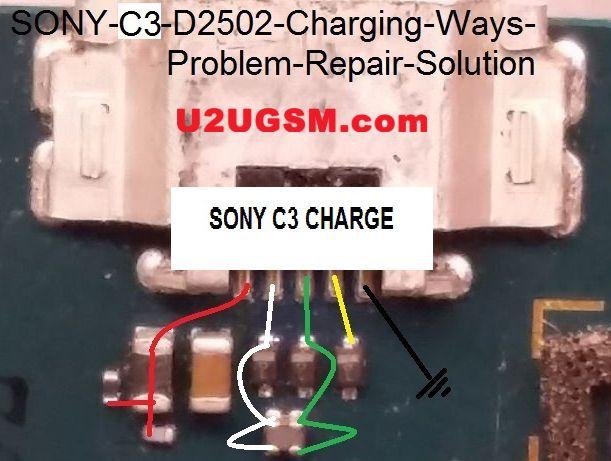 Sony Xperia C3 D2502 Usb Charging Problem Solution Jumper Ways
