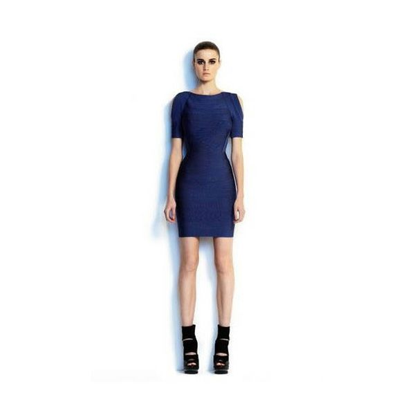 Herve Leger Couture Dress in Deep Blue