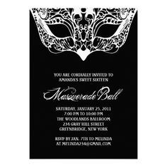 masquerade invitations template photoshop[ - Google Search