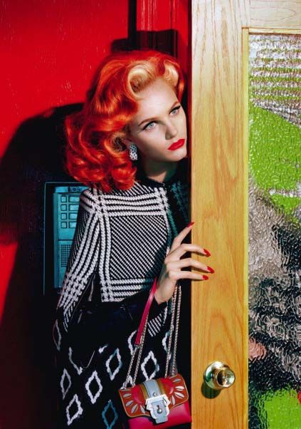 It's All About Attitude by Miles Aldridge for Vogue Italia