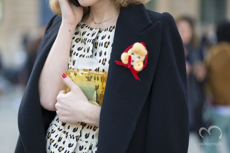 Charlotte Dellal with Charlotte Olympia Perfume Clutch
