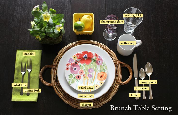 How to Set and Style a Place Setting: brunch