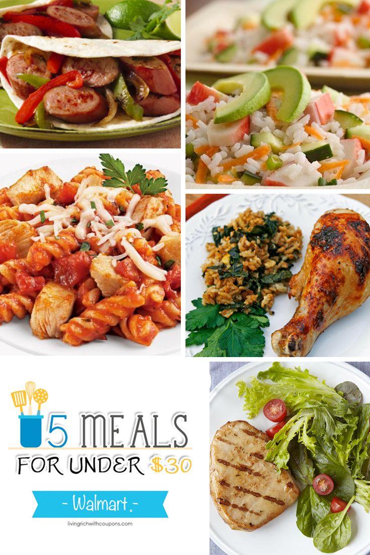 5 Meals for Under 30 at Walmart Week ending 5/30/15