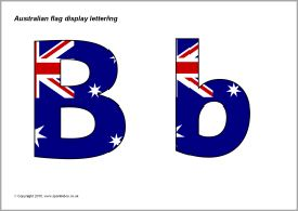 Australian flag display lettering (SB3157) - SparkleBox