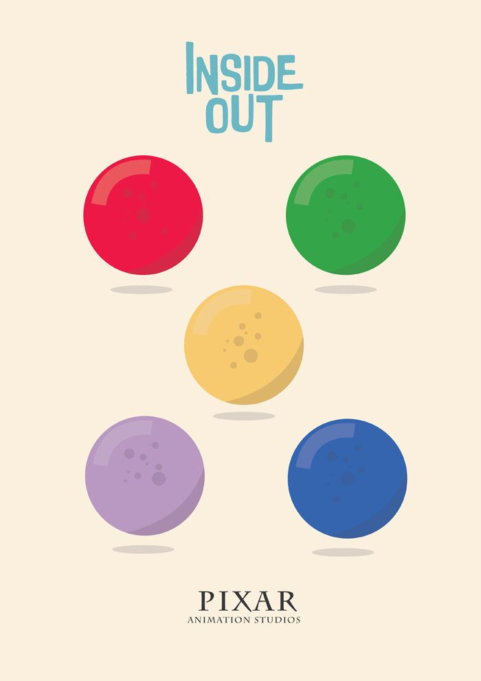 Inside Out (2015) ~ Minimal Movie Poster by Stefano Reves #amusementphile