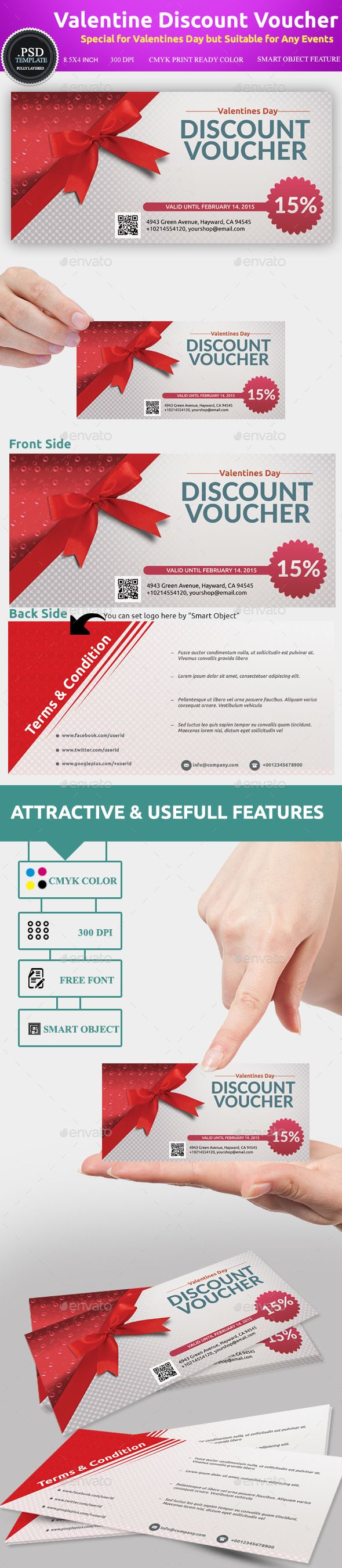 Valentines Discount Voucher Template  http://graphicriver.net/item/valentines-discount-voucher-template/10020176