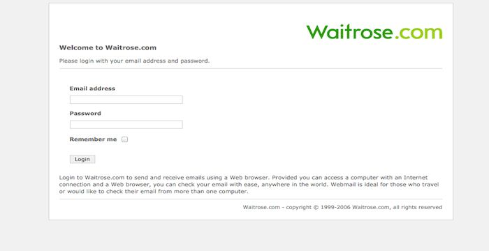 Waitrose Webmail Login