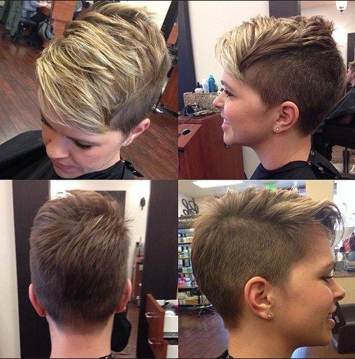 Shaved Hairstyles for Short Hair 2015: Layered Pixie Hair Cut                                                                                                                                                     More