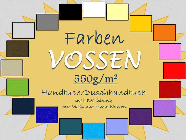 Farbmuster Vossen Handtücher individualisierbar