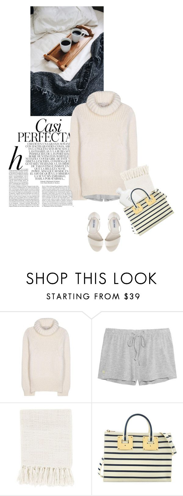 """cozy mood"" by rosa-loves-skittles ❤ liked on Polyvore featuring Whiteley, STELLA McCARTNEY, Elle Macpherson Intimates, Surya, Sophie Hulme and Steve Madden"