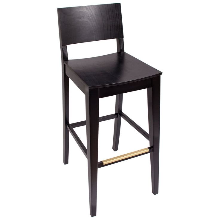 BFM Seating SWB305EB-EB Dover Ebony Colored Beechwood Bar Height Chair with Wooden Seat // $116.64 ea