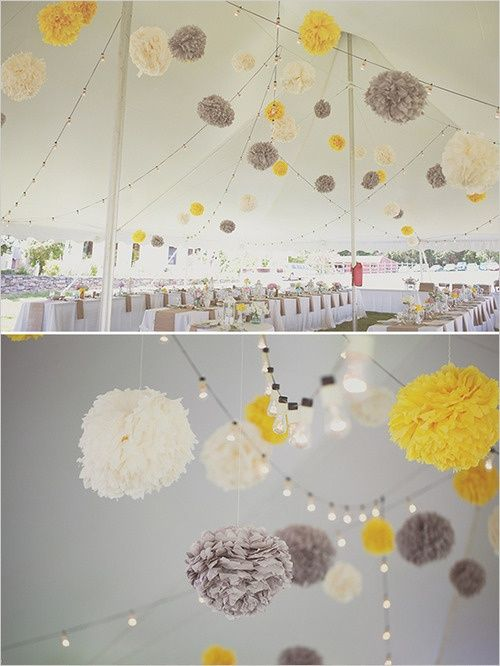 grey paper lanterns | Grey white and yellow paper lanterns. | I give in, future wedding boa ...