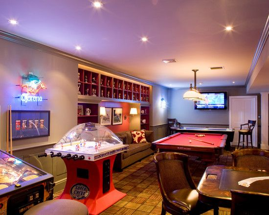 Best 25 game room basement ideas on pinterest gameroom Basement game room ideas