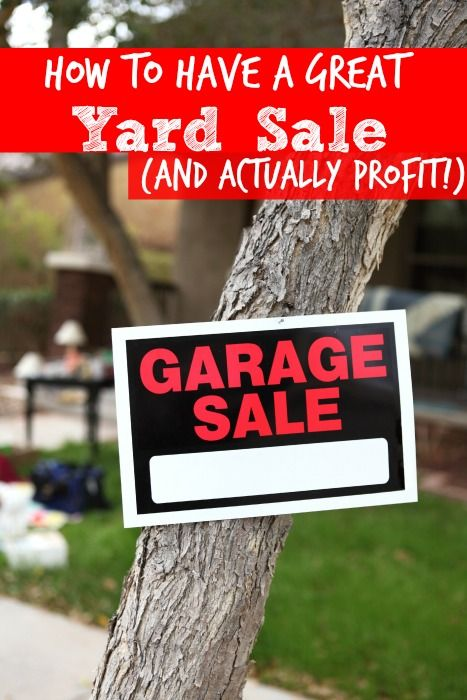 How to Have a Great Yard Sale (and actually profit!) - The Frugal Navy Wife