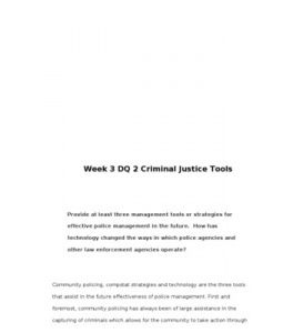 leadership in criminal justice organizations essay Free essays leasdership in criminal justice organizations  criminal justice organizations are particularly unique compared to other public or private sector organizations because of the governmental granted authority  influence the direction of the organization leaders in criminal justice establish direction by developing a vision of.