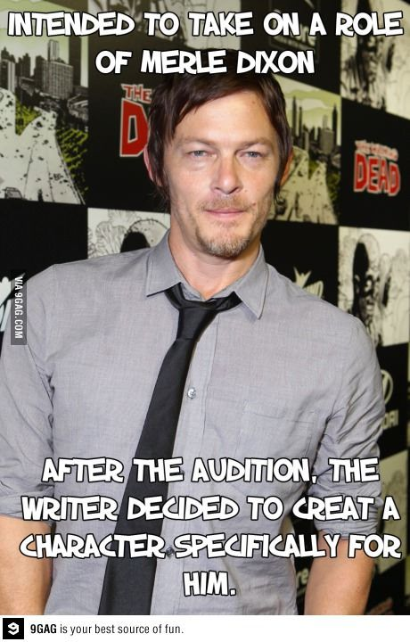 Norman Reedus intended to play Merle...instead the writer made character especially for him