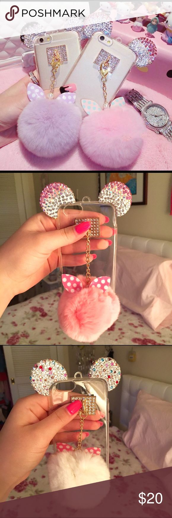 NEW! Adorable Puff Ball 6/6s Cases  ❗️LOWEST PRICE ANYWHERE ❗️  This case is too cute for words! Such an eye catcher, it's guaranteed to be the envy of all your friends! So sparkly and adorable, it reminds me of Disney or Victoria's Secret!  ♡ THIS LISTING IS FOR ONE CASE! ♡ In stock: iPhone 6/6s ONLY. ♡ 100% BRAND NEW ♡ Retails for $60+!! ♡ HIGHEST QUALITY TPU protects phone and screen beautifully from drops and falls!  ♡ Ships within ONE DAY! Guaranteed! ♡ Bundle to save! Buy 2 or 3 for to…