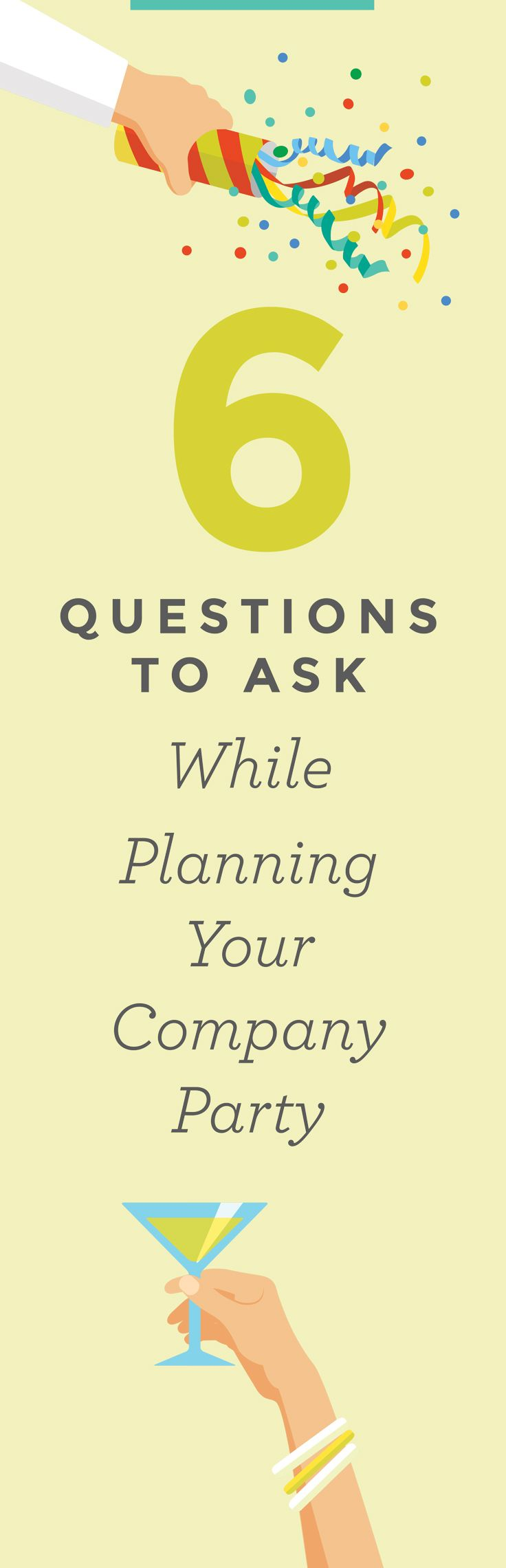 We talked to a team of our expert event planners, and they came up with 6 vital questions to ask when planning your next company gathering - whether it be gala or shindig. Write these down, or pin for later! More on the Hornblower Cruises and Events blog.