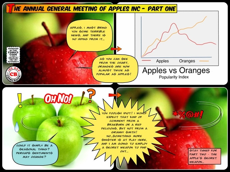 Apples and Oranges in the boardroom