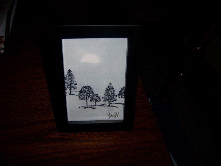 Paysage monochrome