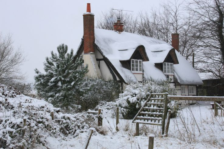 220 Best Images About Houses In The Snow On Pinterest