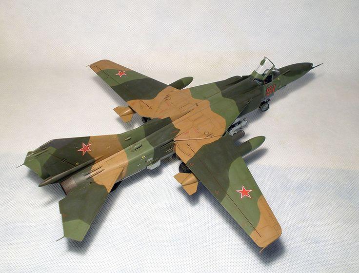BUILT 1/48 MiG 23BN Flogger-H + PE EDUARD Interior set  #TrumpeterPEEduardinteriorset