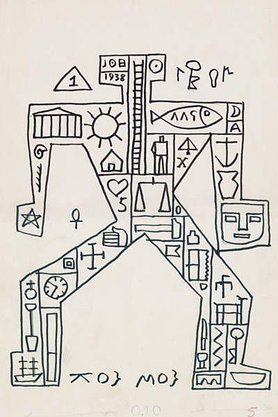 Joaquin Torres Garcia - Hombre Constructivo, 1938.