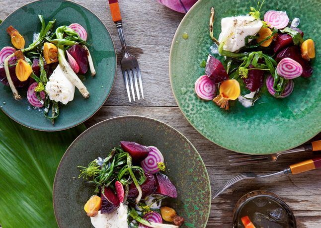 Grilled Beets with Burrata and Poppy Seed Vinaigrette - Bon Appétit