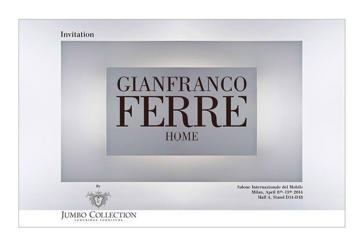 Gianfranco Ferré Home | Salone del Mobile Milano 2014