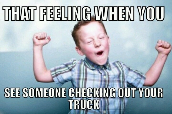 That feeling when you see someone checking out your truck. Best Feelings. #WhiteoakFord