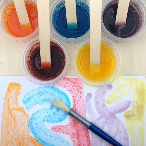 jello paint for preschool and kindergarten