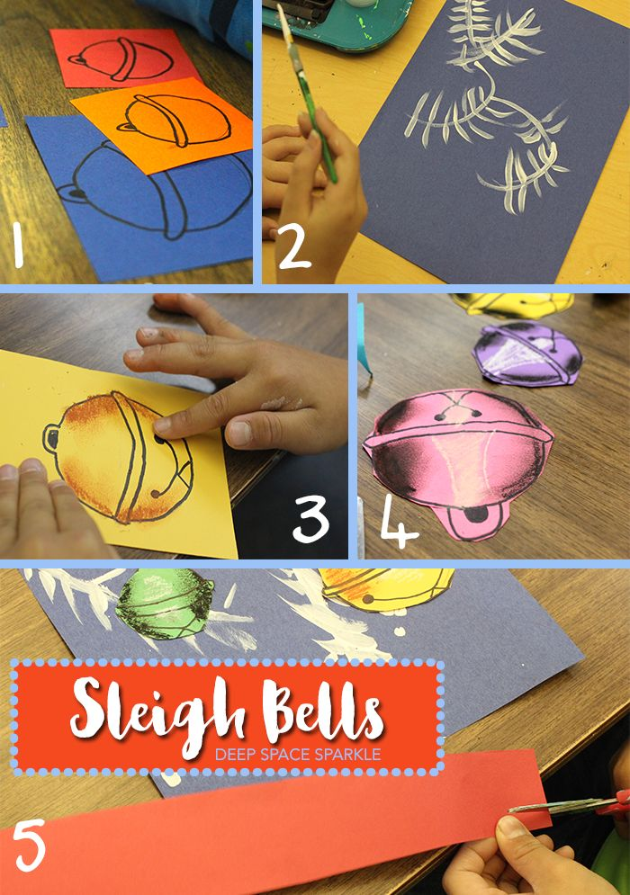 Sleigh Bell Holiday Art project Christmas Art