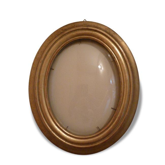 cadre ovale verre bomb verre et cristal dor bon tat classique 30213 cadres. Black Bedroom Furniture Sets. Home Design Ideas