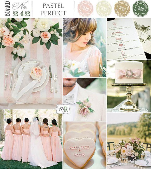 Pastel Perfect Inspiration Board #pastels #pastelwedding