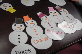 Color sight words matching and grouping game-snowmen! Students can also trace letters to help building handwriting skills, while also using expos to fill in buttons.    http://frozenintime81.blogspot.com/2013/01/dropping-ball-to-start-2013.html