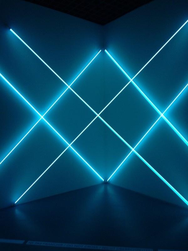 François Morellet. Dynamo. Losange. Bleu.