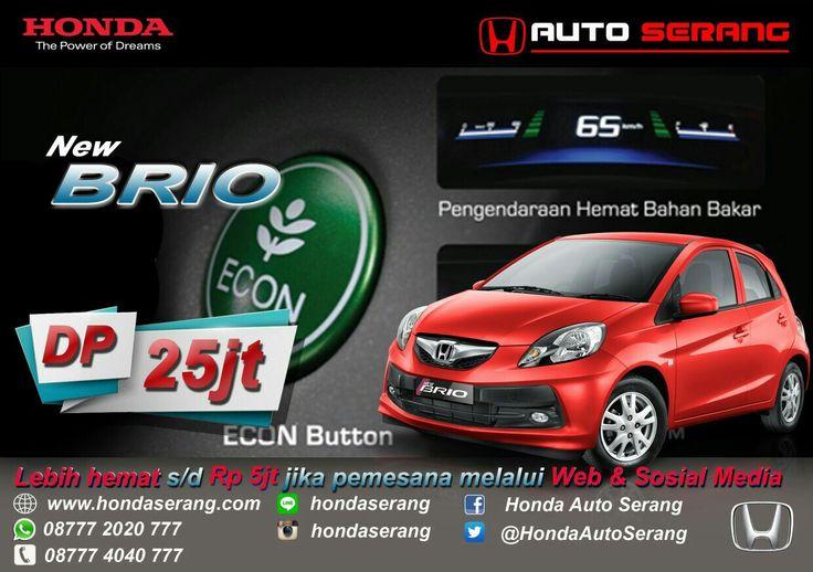 Beli Honda di www.hondaserang.com  Bisa lebih hemat s/d Rp.5juta BRIO Dp 25juta Mobilio Dp 12juta   087772020777