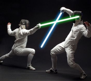 Haha.. ideal!! Now to incorporate it with Swords' blacklight fencing and we've got something going here!