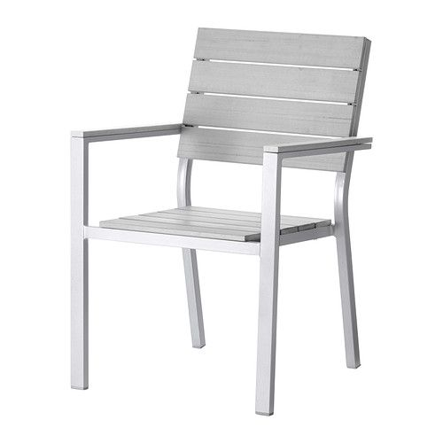 IKEA - FALSTER Armlehnstuhl/außen grau   Stapelbar; spart Platz  sc 1 st  Pinterest : ikea falster chaise - Sectionals, Sofas & Couches