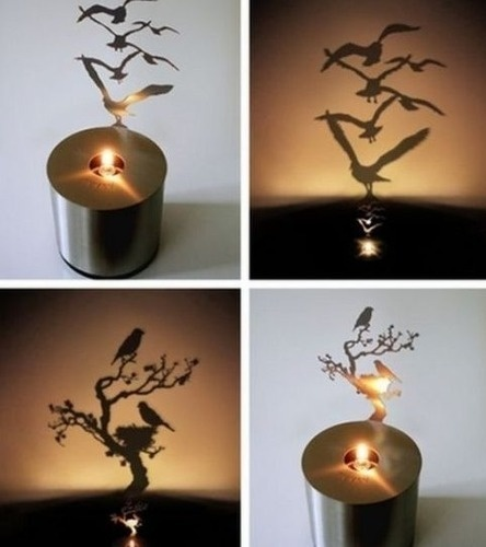 Shadow Projecting Candle: Lamps Design, Ideas, Trav'Lin Lights, Awesome, Night Lights, Candle Holders, Candles Holders, Shadows Candles, Shadows Art