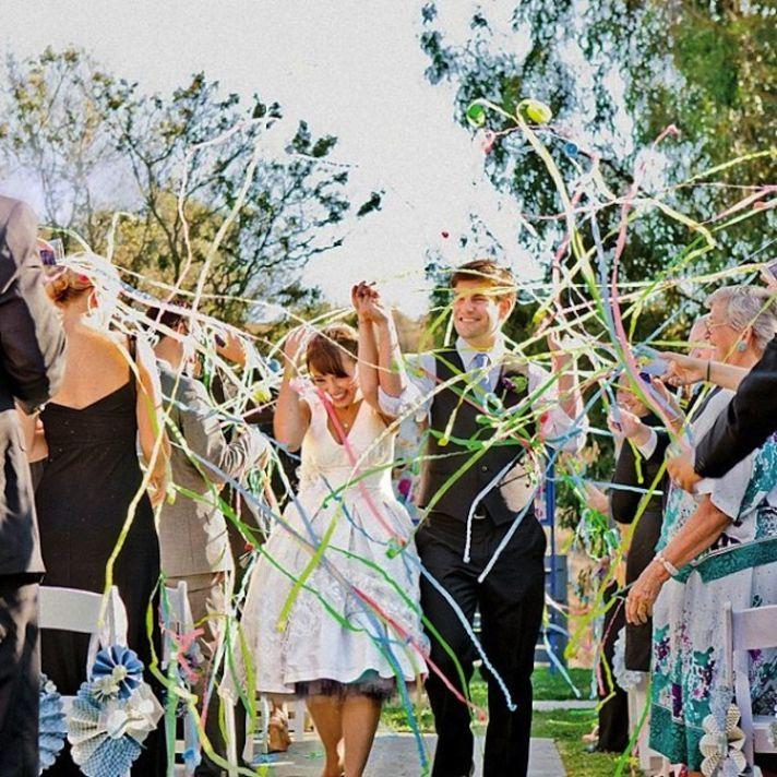 Fun Ideas to Create a Memorable Wedding Send-Off: Streamers
