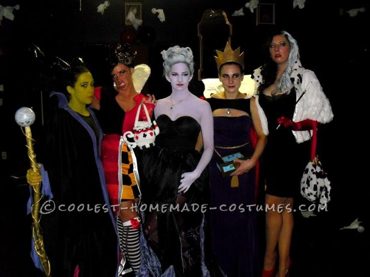 Fantastic Female Disney Villains Group Costume... This website is the Pinterest of costumes
