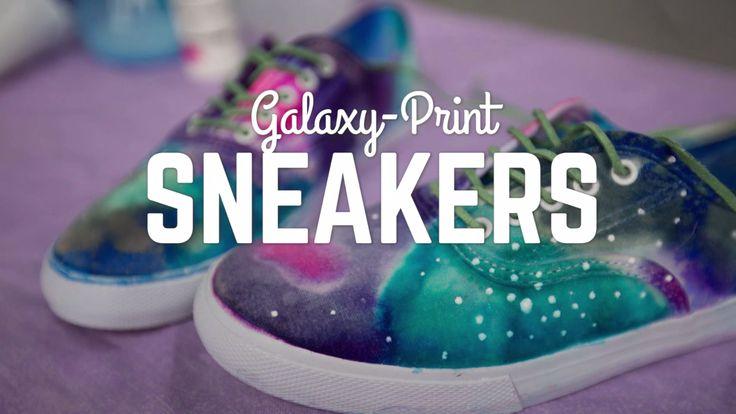 DIY Galaxy-Print Shoes