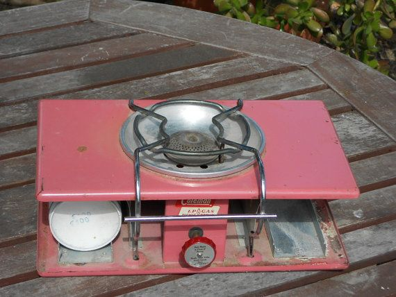 pink coleman picnic camping stove by blkolivecottoncandy on Etsy, $55.00