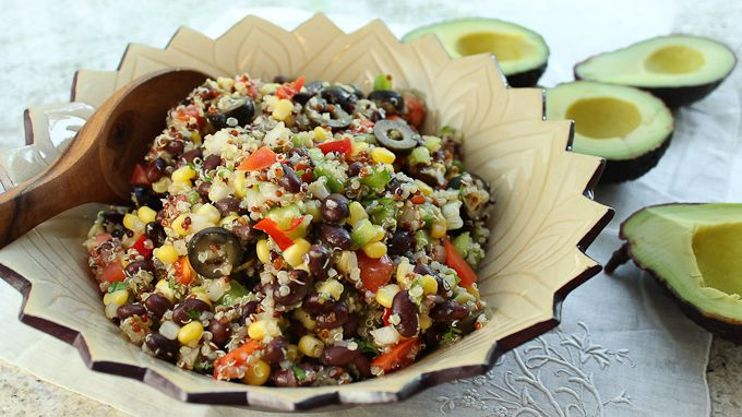 Incan Quinoa Salad--Looking for a flavorful dish to bring to a potluck? Try this quinoa recipe.: Quinoa Recipe, Quinoa Salad Looks, Incan Quinoa, Fed Meals, Salad Recipe, Gluten Free, Flavored Dishes, Potlucks, Pbs Parents