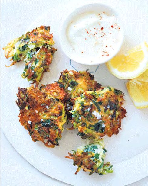 Bill Granger's potato, courgette and mozzarella fritters