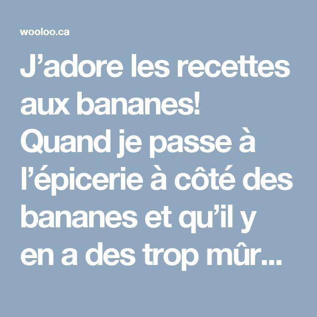 J'adore les recettes aux bananes! Quand je passe à l'épicerieà côté des bananes et qu'il y en a des trop mûres à 50% de rabais, j'en achète presque toujours! Je ne crois pas être la seule à trouver réconfort dans cesrecettes parce qu'elles ont toutes été très très populaires sur mon blogue! Je vous partage […]
