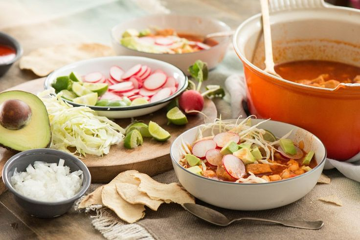 Pozole Rojo (red pozole) recipe.  Make this spicy and delicious Mexican soup for your next celebration.  Ad #KnorrCelebrations
